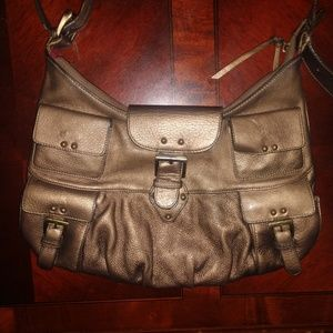 Bronzish brown leather purse